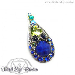 Deep Blue Drop - tribal bindi