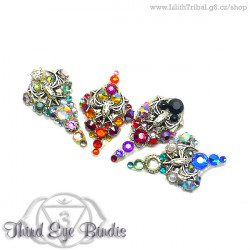 Bats - tribal gothic bindi set